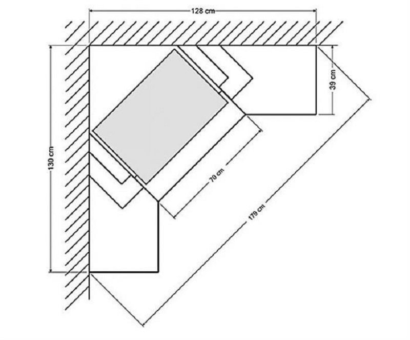 На бумаге составить план конструкции по замерам