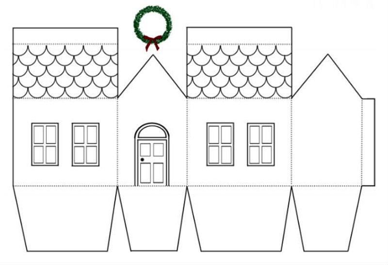 Крышу домика лучше не склеивать, а скрепить степлером или скрепкой