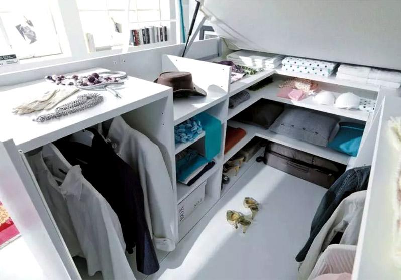 Двуспальная кровать-комод с вместительной гардеробной – идеальное решение для однокомнатной квартиры