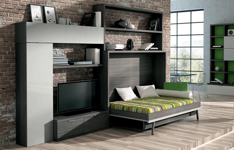 Полутороспальная кровать-комод выручит владельцев квартиры-студии, если гости решат остаться на ночь