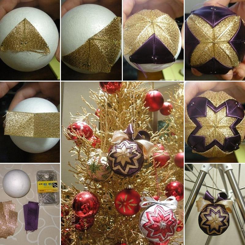 Пошаговое изготовление необычного шара из лент