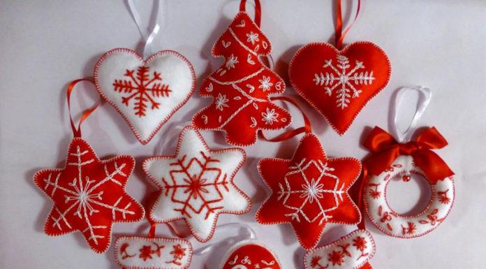 💗 Магия фетра: выкройки для игрушек новогодней тематики, которые можно сделать даже без швейной машинки