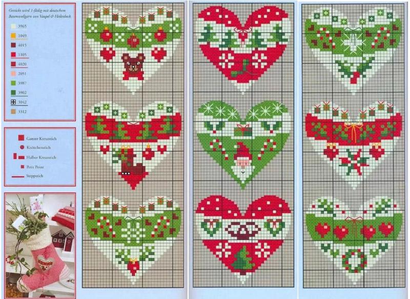 Для изготовления новогодних ёлочных игрушек подойдут вот такие варианты схем