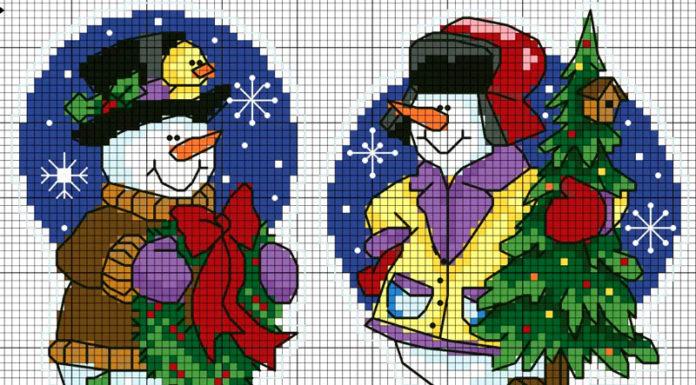 💗 Новогодний декор: красивая вышивка на игрушки и украшения