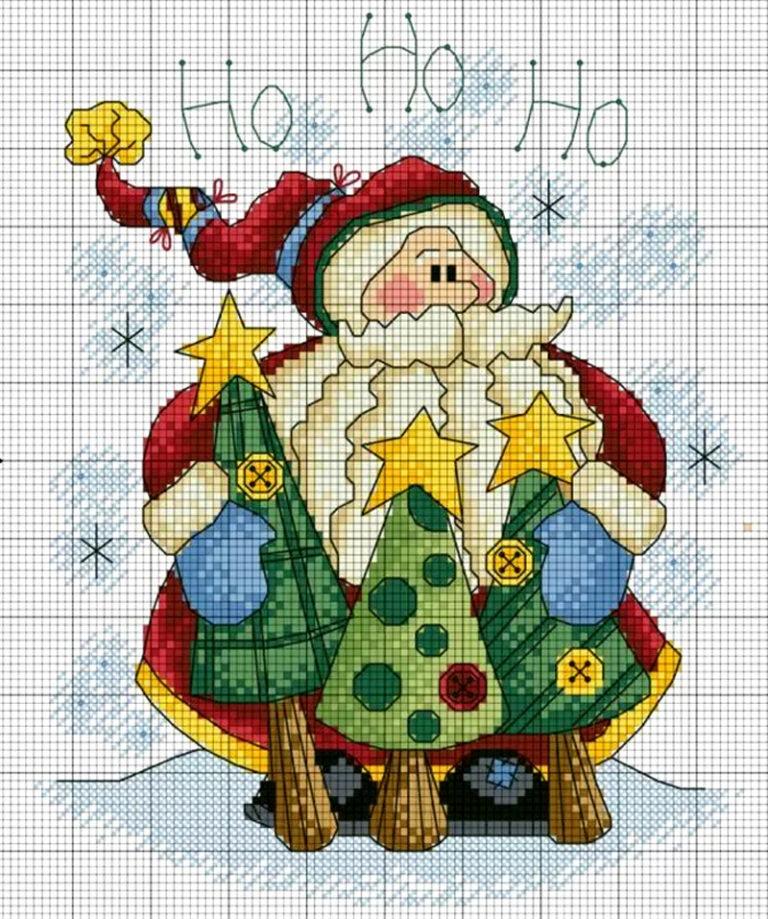 Картинки для вышивки к новому году