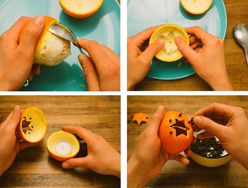 Процесс создания такого вкусно пахнущего подсвечника очень прост