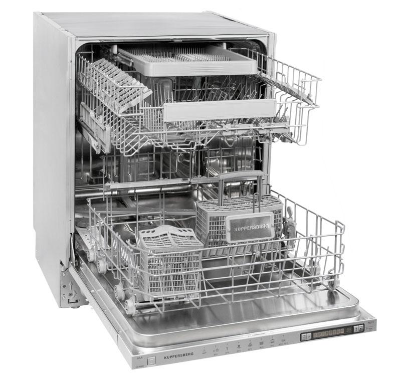 Обычно внутри посудомоечная машина разделена на отсеки для разных типов посуды