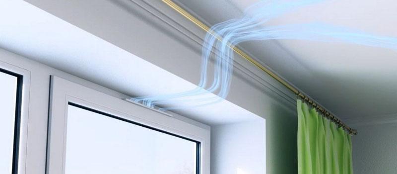 Потоки воздушных масс повторяют естественную циркуляцию в помещении, кроме того, вы избавляетесь от сквозняков по полу