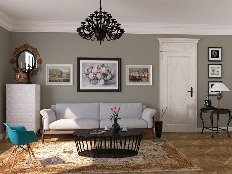Рама для картины должна подчеркивать общую стилистику пространства