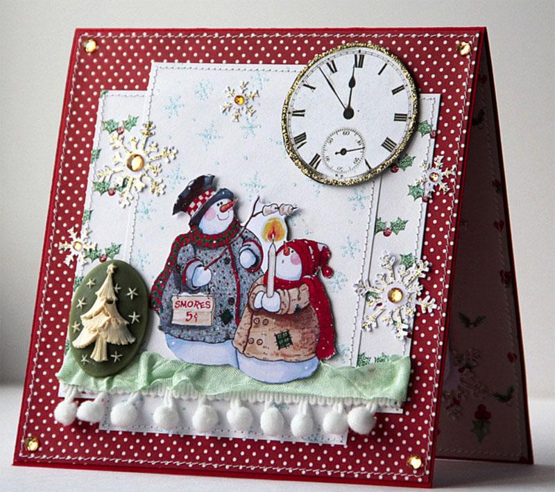 Пожеланиями, оригинальные открытки скрапбукинг своими руками на новый год