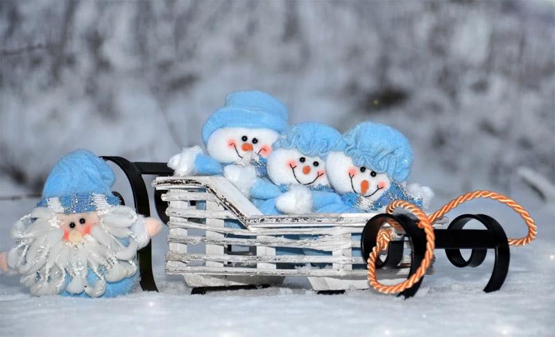 Снеговики к Новому году своими руками