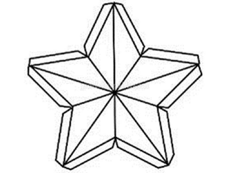 Шаблон для звезд из картона