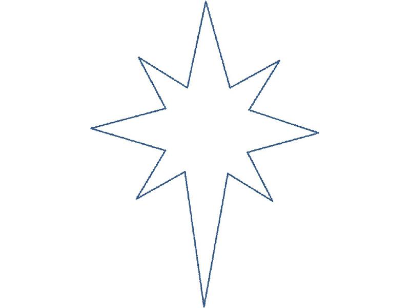 Шаблон для Вифлеемской звезды