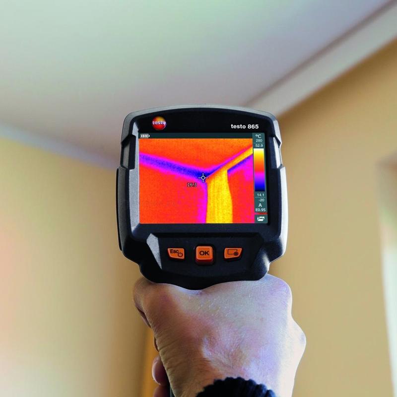 Внутри помещения с помощью тепловизора можно находить холодные зоны