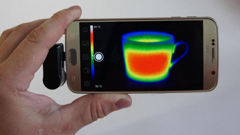 Разрешение экрана может сильно отличаться от разрешения теплового детектора