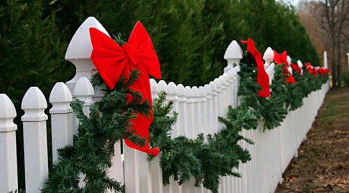 как украсить забор на новый год фото халва готовится