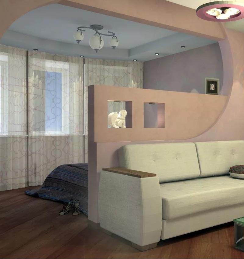 Красиво и оригинально выглядят прямоугольные или дугообразные арки из гипсокартона