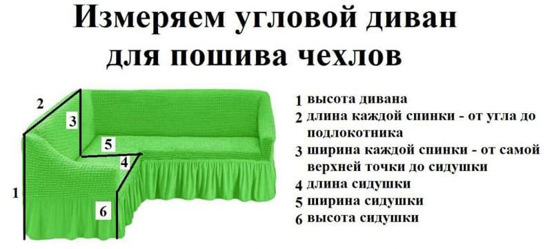 chehol-na-uglovoy-divan-32 Как сшить чехол на диван своими руками: выкройки и пошив универсального чехла