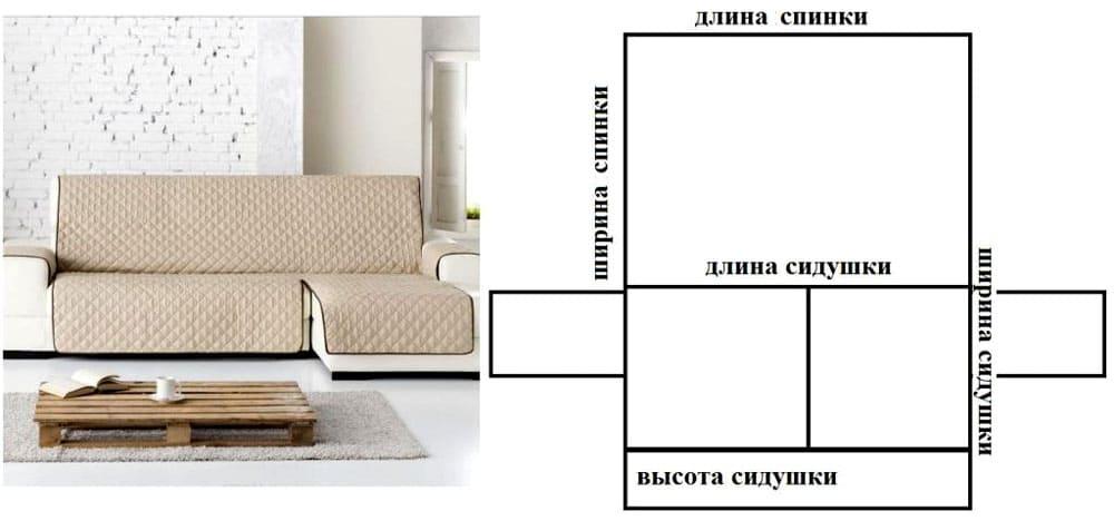 chehol-na-uglovoy-divan-33 Как сшить чехол на диван своими руками: выкройки и пошив универсального чехла