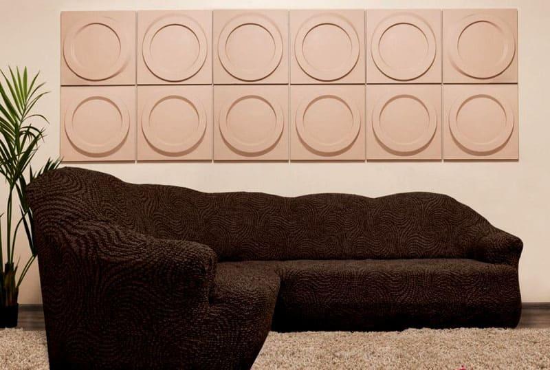Еврочехол подходит для нестандартной формы спинки углового дивана