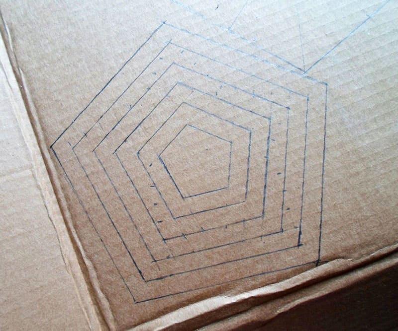 Схема пентагона на картоне