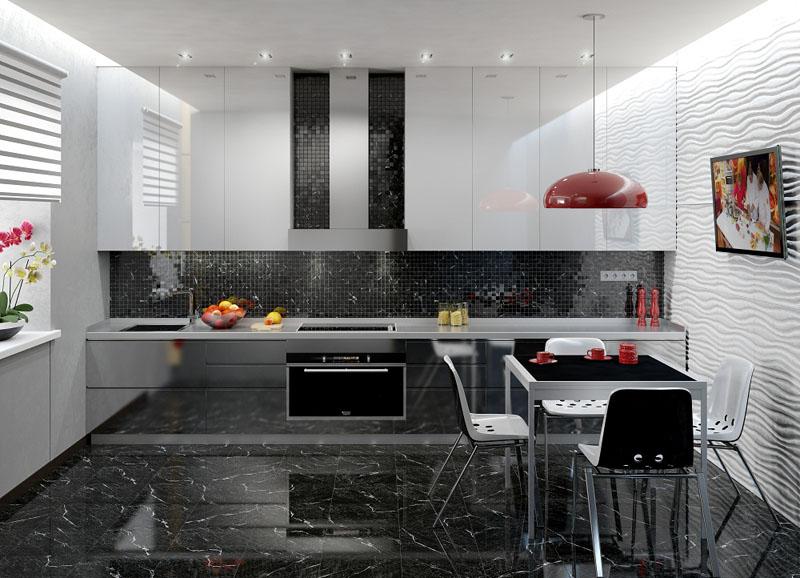 Искусственные плиты из керамогранита достаточно популярны для отделки элементов пола, столешниц кухонь и лестниц