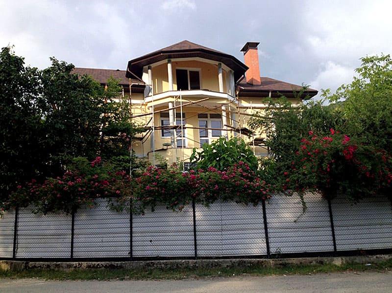 Дом Михайлова во время реконструкции