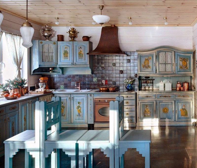Для вытяжки, плиты, духовки подойдёт ретро-стиль