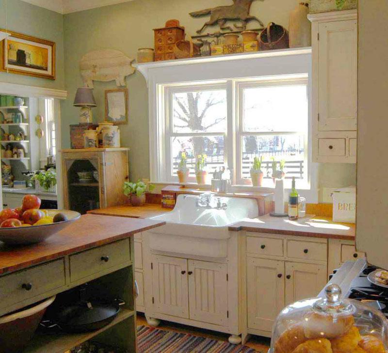 Противникам текстиля понравится такой вариант небольшой кухоньки