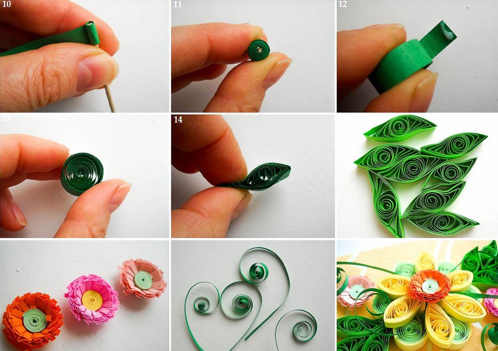 Техника изготовления листиков и сборка композиции