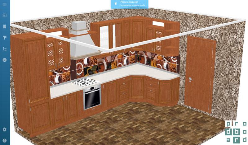 Такую кухню можно спроектировать в считанные минуты