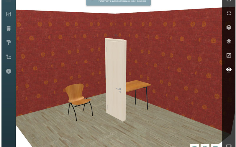 Моделировать можно как угодно и что угодно — например, установить дверь посередине комнаты