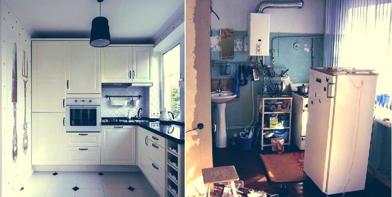 Ремонт в хрущёвке: до и после
