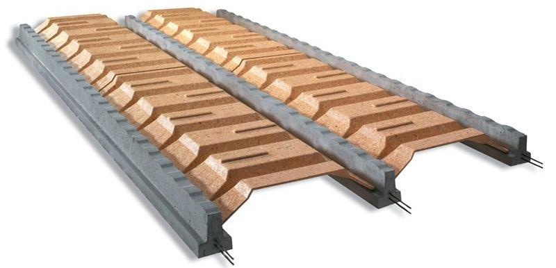 Наиболее лёгкое перекрытие без применения блоков. Прочность его оставляет желать лучшего, но для потолка материал вполне подойдёт