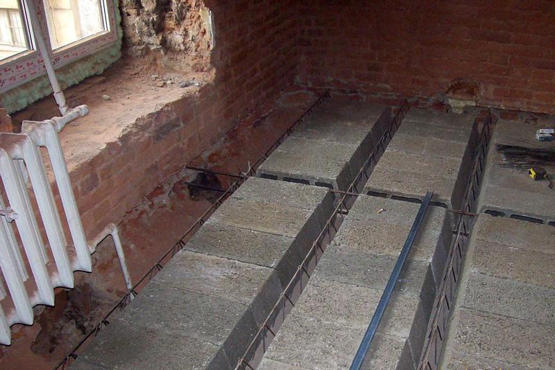 Монтаж сборно-монолитных перекрытий можно производить даже в уже отстроенном помещении