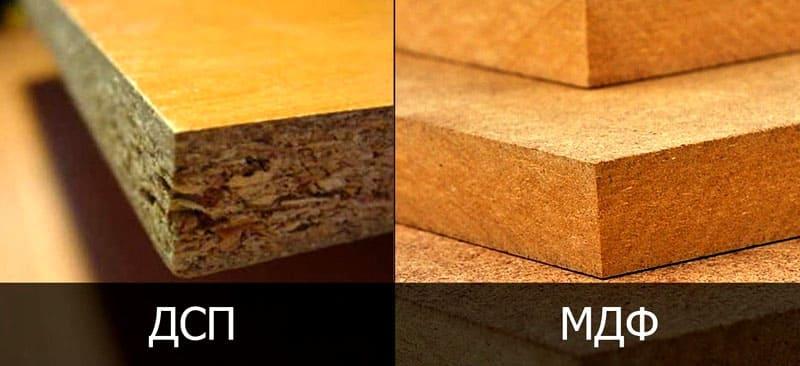 Структура ЛДСП и МДФ