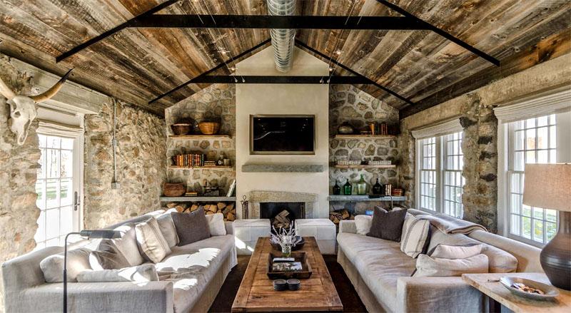 В стиле кантри отделка комнат скромная, без вычурной роскоши и включения ультрасовременных деталей