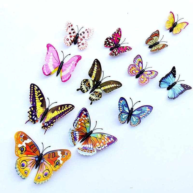 Эти очаровательные бабочки могут уютно устроиться на любой стене детской