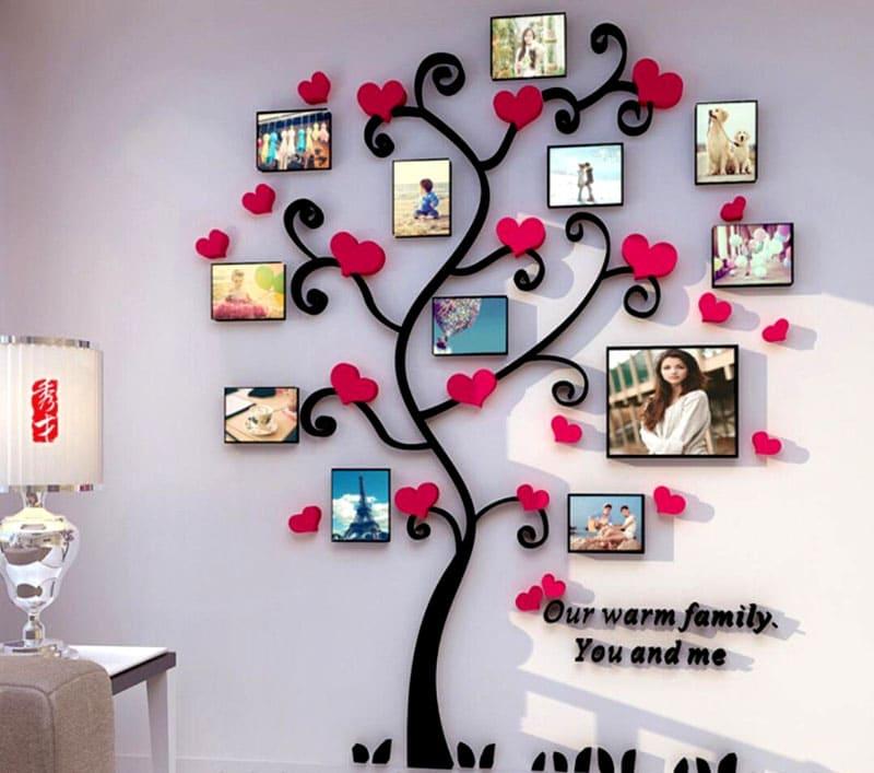 Такое дерево украсит комнату вашего малыша семейными фото