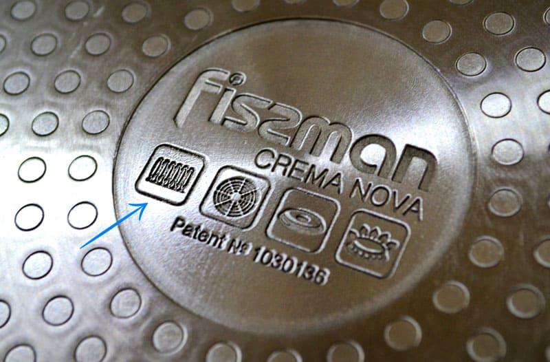 На дне посуды должна быть маркировка для индукционных плит