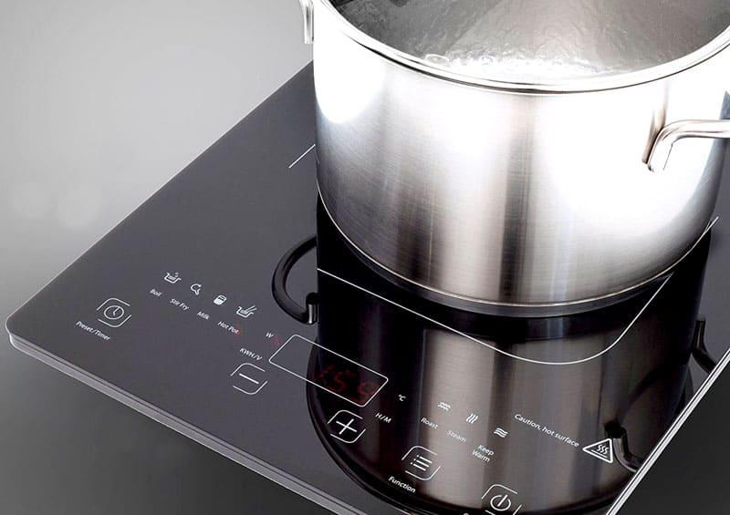 Плитка не включится, еслизанято менее 70%площади нагрева