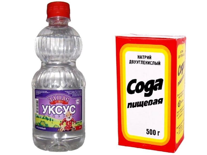 Уксус и сода – самое популярное народное средство для удаления засоров