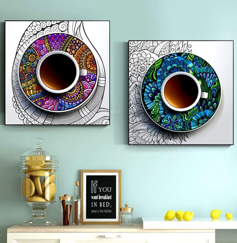 Этот рисунок с этническими мотивами будет отлично смотреться на кухне или в рабочем кабинете