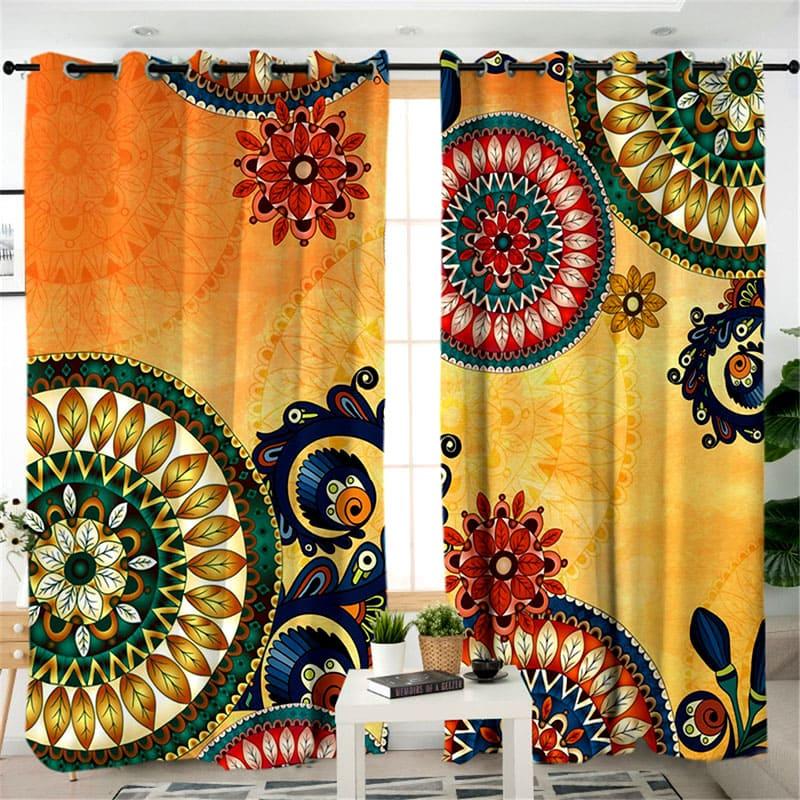 Эти шторы отлично дополнят интерьер в этностиле