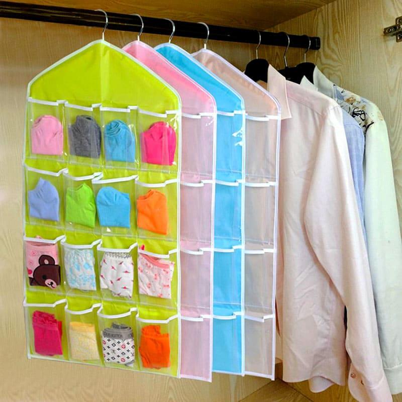 Этот органайзер можно повесить в шкаф вместе с остальной одеждой