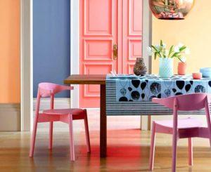 Оранжевый и розовый пудровые оттенки