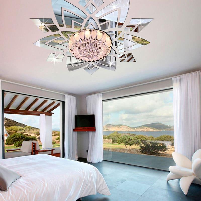 Этот зеркальный узор увеличит освещенность вашей спальни