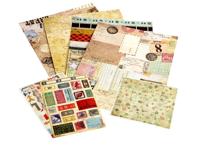 Для изготовления конвертов своими руками подойдет бумага для скрапбукинга