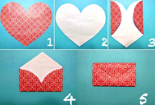 kak-sdelat-konvert-iz-bumagi-formata-A4-5 Как сделать конверт из А4: своими руками поэтапно, для письма без клея и ножниц, большой и маленький, фото и видео