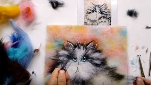 Картины из шерсти: акварельная живопись для всех возрастов